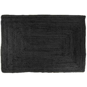 Jute Teppich schwarz 90 x 60 - Alex