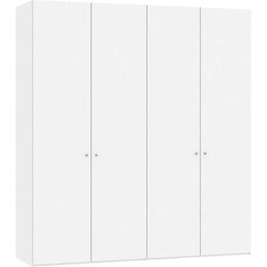 Jutzler: Drehtürenschrank, Holzwerkstoff, Weiß, B/H/T 202,5 220 58,5