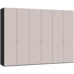 Jutzler: Drehtürenschrank, Holzwerkstoff, Rosa, Schwarz, B/H/T 303,1 220 58,5