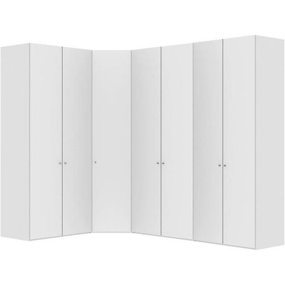 Jutzler Eckschrank Weiß , Holzwerkstoff , 4 Fächer , 196x236x296 cm