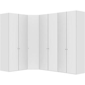 Jutzler: Eckschrank, Holzwerkstoff, Weiß, B/H/T 200 300 236