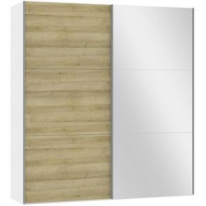 Jutzler: Schwebetürenschrank, Holzwerkstoff, Weiß, Eiche, B/H/T 202,5 220 65