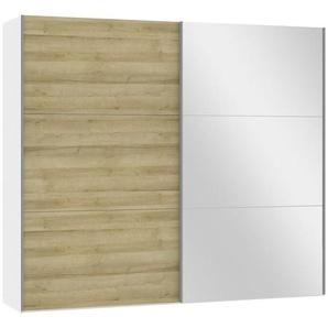 Jutzler: Schwebetürenschrank, Holzwerkstoff, Weiß, Eiche, B/H/T 252,8 220 65