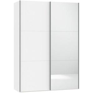 Jutzler Schwebetürenschrank 2-türig Weiß , Glas , 152.2x220x46 cm