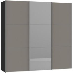 Jutzler Schwebetürenschrank 3-türig Weiß , Glas , 227.6x220x46 cm