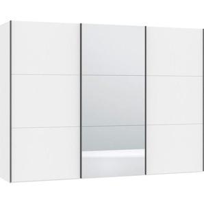 Jutzler Schwebetürenschrank 3-türig Weiß , Glas , 303.1x220x46 cm