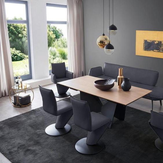 K+W Komfort & Wohnen Essgruppe »Drive«, (Set, 6-tlg), Solobank mit Armteilverstellung, 2 Drehstühle, 2 Drehsessel und Tisch mit Auszugfunktion 200-300cm