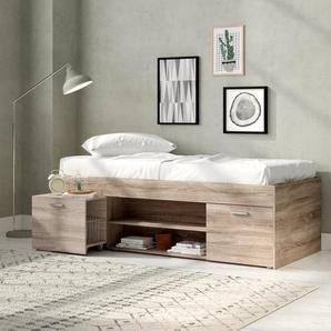 Futonbett mit Stauraum, 90 x 200 cm