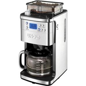 Kaffeemaschine mit Mahlwerk 28736 Mühle, 1,5l Kaffeekanne, Permanentfilter 1x4,, silber, Unold