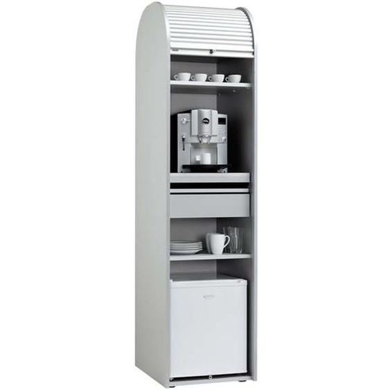 Kaffeeschrank für Büro Weiß Silber