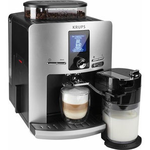 Kaffeevollautomat EA82FE LattEspress Quattro Force silber, Krups