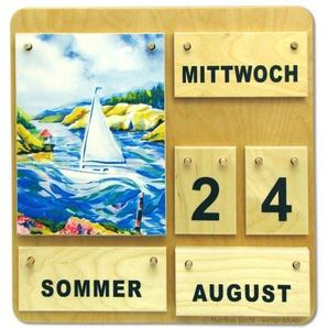 Kalender Vier Jahreszeiten Holzkalender auch für Senioren Demenzkranke
