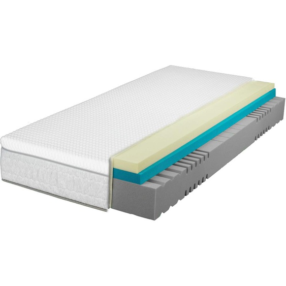 Breckle Kaltschaummatratze EvoX Feel KS, (1 St.), 3in1 Konzept, 3 Festigkeiten in einer Matratze ** 2 (0-80 kg), 1x 90x200 cm, ca. 27 cm weiß Kaltschaummatratzen Matratzen