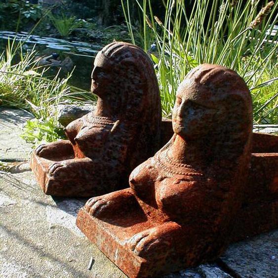 Kaminböcke zur Holzauflage für Herdfeuer, Feuerböcke-wie antik Feuerböcke Sphinx
