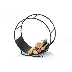 Home affaire Kaminholzkorb »CIRCLE«, schwarz