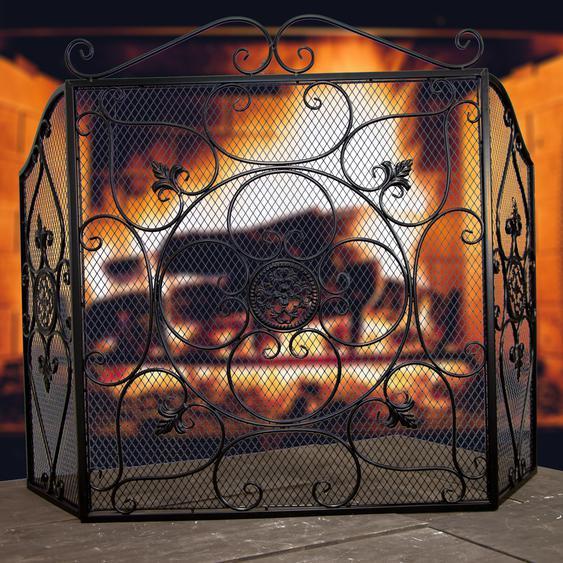 Kaminschutz mit Netz, Funkenschutz, Schutzgitter,Gitter für den Kamin,Ofenschutz