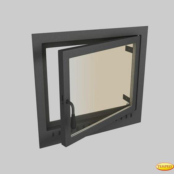Kamintür Schornstein Tür Stahl Mit Glas Schornsteinöffnung