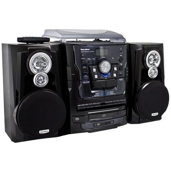 Karcher KA 350 Kompaktanlage mit CD-Player - Radio - Kassette - Plattenspieler - USB / SD