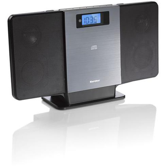 Karcher MC 6518 Kompaktanlage (UKW - Radio, CD Player, Bluetooth, MP3-Wiedergabe via USB) schwarz