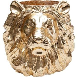 KARE Dekovase »Deko Übertopf Lion Gold«