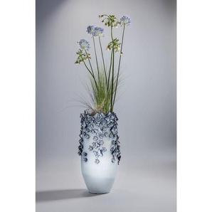 KARE Dekovase »Vase Butterflies hellblau 50cm«