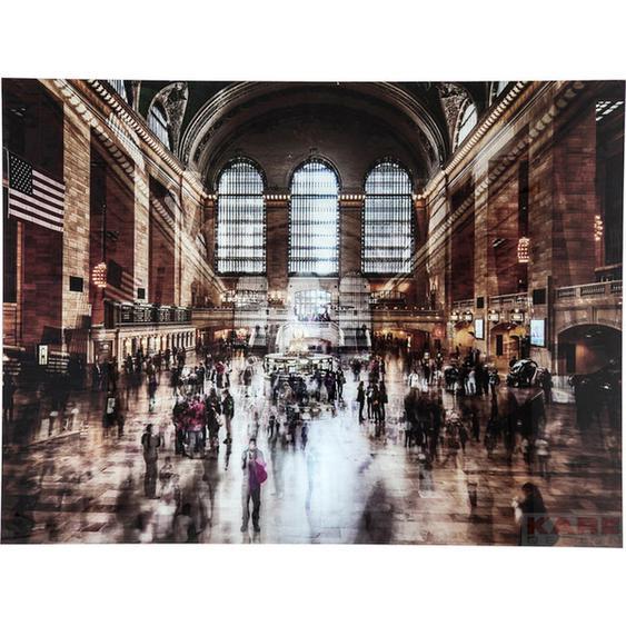 Kare-Design Bild , Mehrfarbig , Kunststoff, Glas , 120x160x4 cm