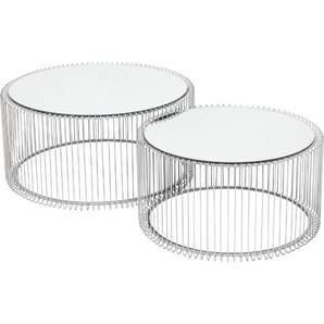 KARE DESIGN Couchtisch, Silber, Glas
