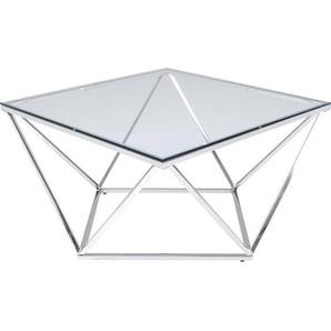 Kare-Design Couchtisch , Edelstahl , Metall, Glas , 80x45 cm , Wohnzimmer, Wohnzimmertische, Couchtische