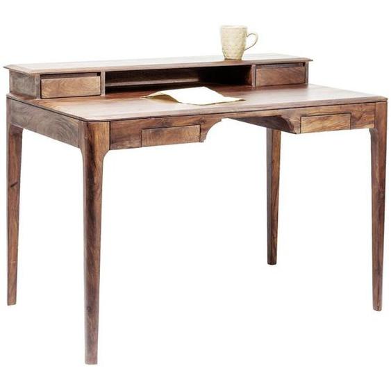 Kare-Design Schreibtisch Sheesham massiv Braun , Holz , 4 Schubladen , 110x85x70 cm