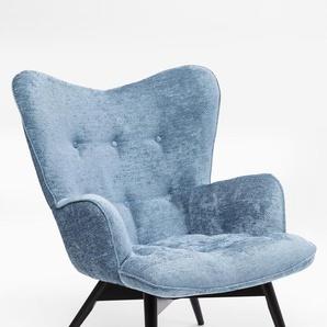 KARE DESIGN Sessel, Blau, Stoff