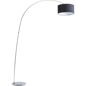 Kare Design Standleuchte Gooseneck black, Bogenleuchte schwarz silber, Bogenlampe modern, Stehleuchte Bogen, (H/B/T) 213x160x40cm