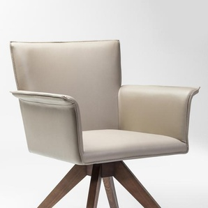 KARE DESIGN Stuhl, Beige, Lederoptik
