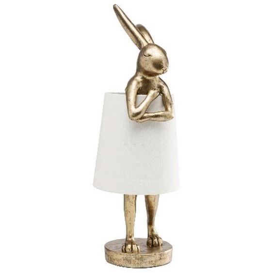 Kare-Design Tischleuchte , Gold , Metall , Hase , 23x68x23 cm