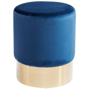 KARE Cherry Blau Brass Hocker Ø35cm Messing/Blau