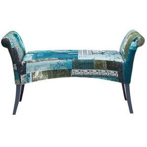 KARE Motley Blue Hour Bank 108x40x61cm Blau Gemustert