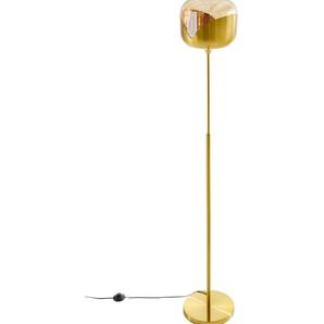 KARE Stehlampe, E27 Höhe: 165 cm goldfarben Standleuchten Stehleuchten Lampen Leuchten Stehlampe