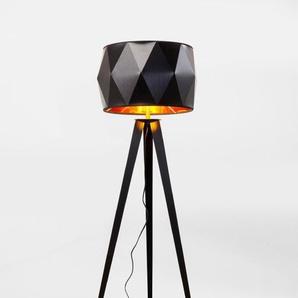 KARE DESIGN Stehlampe, Schwarz, Kunststoff