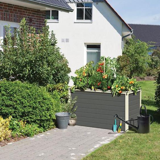 Karibu Hochbeet »Lyss«, geeignet für Garten, aus Holz, mit Folie