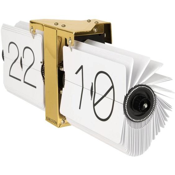 Karlsson KA5601WH Flip Clock No Case Gold