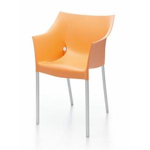 Kartell Armlehnstuhl Dr. No orange, Designer Philippe Starck, 78.5x51.5x66 cm