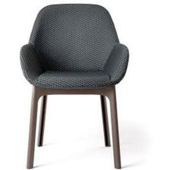 Kartell - Clap Stuhl, schwarz / dunkelgrau