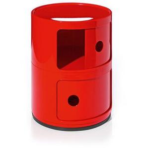 Kartell Container Componibili rot, Designer Anna Castelli Ferrieri, 40 cm