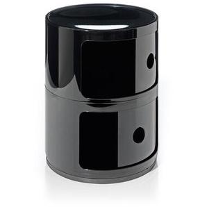 Kartell Container Componibili schwarz, Designer Anna Castelli Ferrieri, 40 cm