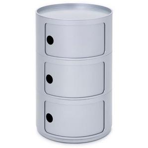 Kartell Container Componibili silber, Designer Anna Castelli Ferrieri, 69.5 cm
