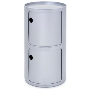 Kartell Container Componibili silber, Designer Anna Castelli Ferrieri, 76.5 cm