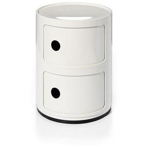 Kartell Container Componibili weiß, Designer Anna Castelli Ferrieri, 40 cm