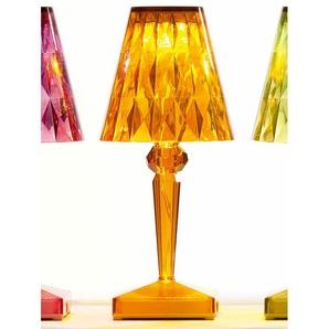 Kartell LED-Tischleuchte Battery orange, Designer Ferruccio Laviani, 22x13x13 cm