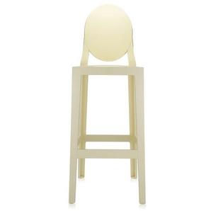 Kartell - One More mit ovaler Rückenlehne - gelb - Sitzhöhe 65 cm - indoor
