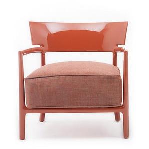 Kartell Sessel Cara Solid Color rot, Designer Philippe Starck, 69x68x67 cm