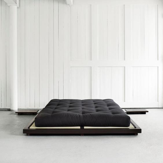 Karup Design Futonbett Dock Liegefläche B/L: 160 cm x 200 cm, Gewicht schwarz Doppelbetten Betten